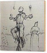 Juggler Wood Print