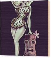 Jungle Girl Wood Print