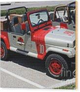 Jurassic Park Jeeps Wood Print
