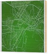 Kabul Street Map - Kabul Afghanistan Road Map Art On Colored Bac Wood Print
