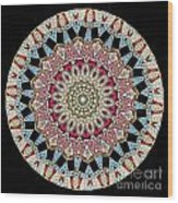 Kaleidoscope Colorful Jeweled Rhinestones Wood Print