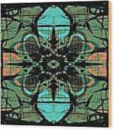 Kaleidoscope Flower 4 Wood Print