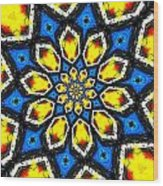 Kaleidoscope Of Primary Colors Wood Print