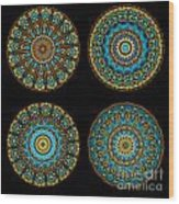 Kaleidoscope Steampunk Series Montage Wood Print