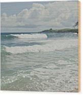 Kapalua Surf Honokahua Maui Hawaii Wood Print