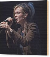 Karin Bergquist Lead Singer Of Over The Rhine Wood Print