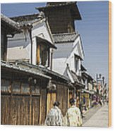 Kawagoe Bell Tower Wood Print