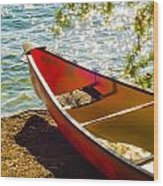 Kayak By The Water Wood Print