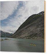 Kayaking To The Nigardsbreen Glacier Wood Print