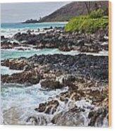 Keanae Lava Rock Wood Print