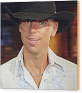 Kenny Chesney Wood Print by Don Olea