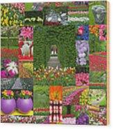 Keukenhof Gardens Collage Wood Print