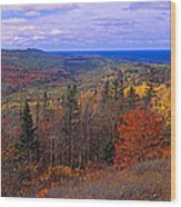 Keweenaw Peninsula And Copper Harbor Wood Print