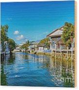 Key Largo Canal 3 Wood Print