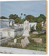 Key West Cemetery Wood Print