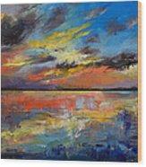 Key West Florida Sunset Wood Print
