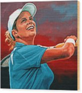Kim Clijsters Wood Print