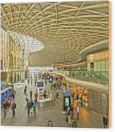 Kings Cross Railway Station London  Wood Print