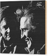 Kirk Douglas Laughing Johnny Cash Old Tucson Arizona 1971 Wood Print