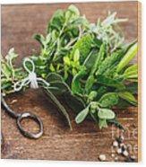 Kitchen Herbs Wood Print