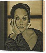 Kristin Scott Thomas Wood Print