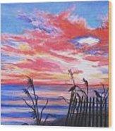 Ks Sunrise Wood Print