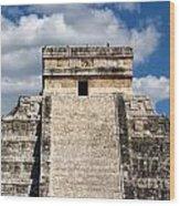Kukulkan Pyramid At Chichen Itza Wood Print