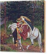 La Belle Dame Sans Merci Wood Print by Walter Crane