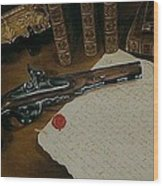 La Lettre Wood Print by Guillaume Bruno