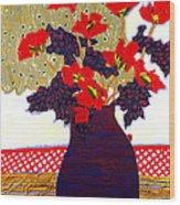 Lady Bug Wood Print by Diane Fine