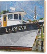Lady Eva Wood Print