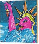 Lady Liberty Wood Print
