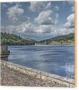Ladybower Dam Wood Print