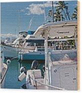 Lahaina Marina Maui Hawaii Wood Print