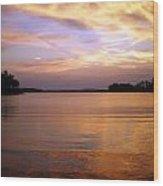 Lake Lanier Sunset Wood Print