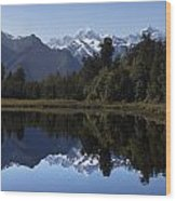 Lake Matheson New Zealand Wood Print