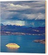 Lake Mead Afternoon Thunderstorm Wood Print