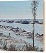 Lake Michigan Ice Wood Print