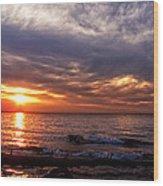 Lake Superior Sunset Wood Print