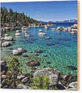 Lake Tahoe Waterscape Wood Print by Scott McGuire