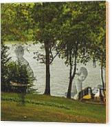 Lakeside Dreams Wood Print
