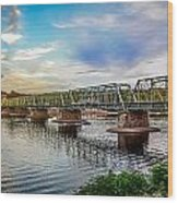 Lambertville From The Shores Of New Hope Wood Print