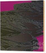 Black Magenta Bull Wood Print