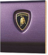 Lamborghini Diablo Se Roadster Emblem Wood Print