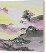 Landscape 1 Wood Print by Anil Nene