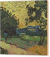 Landscape At Twilight Wood Print
