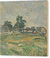 Landscape Near Paris Wood Print