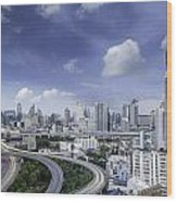 landscape of Bangkok city  Wood Print