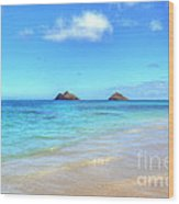 Lanikai Beach Oahu Hawaii Wood Print by Kelly Wade