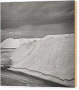 Las Coloradas Salt Flat Wood Print